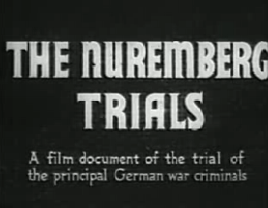At the trial of the main nazi criminals in nuremberg