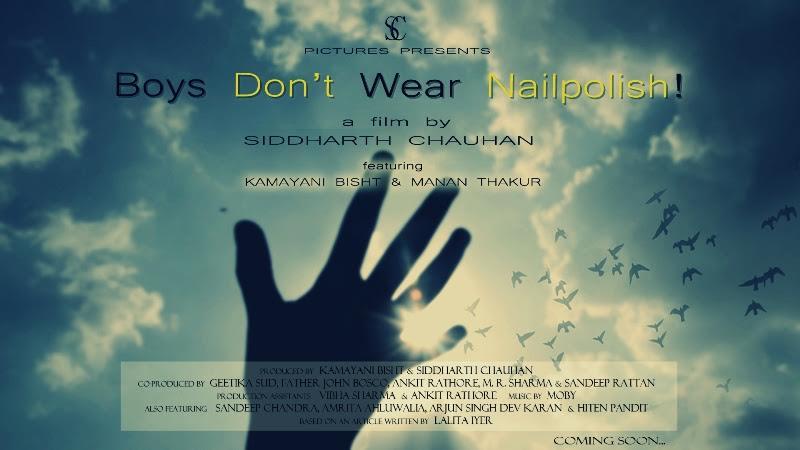 Boys don t wear nailpolish